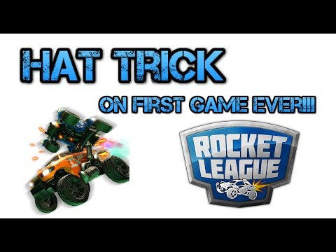 Rocket League: YouTuber plays for First time EVER- Gets Hat trick!!!