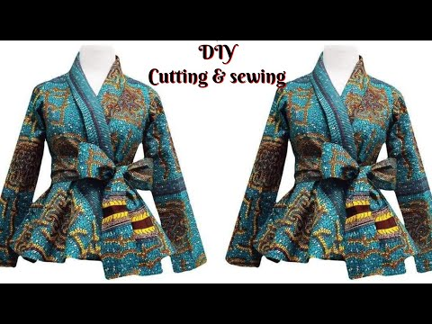 How To Make A WRAP BLOUSE/TOP Cutting And Sewing [DETAILED]