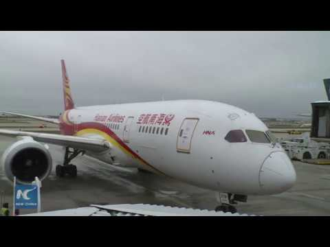 Hainan airlines biofuel flight lands in Chicago
