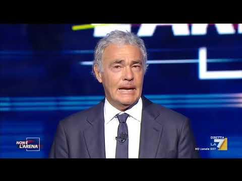 Coronavirus, la commozione di Massimo Giletti nell'apertura della puntata di Non è l'Arena