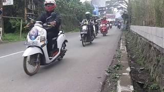 TOURING WAJIB SCOOPYR17 INDONESIA 03 11 2018 puncak bogor banjir scoopy