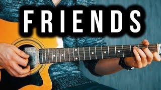 Friends - Guitar Tutorial - Marshmello, Anne-Marie
