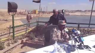Drilling of 195 million cubic meters of sand and Dredging 56.5 million meters of new Suez Canal