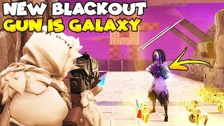 NEW BlackOut Gun is Galaxy! (Scammer Gets Scammed) Fortnite Save The World