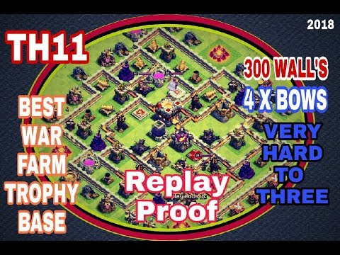 Best Th11 Farming Base 2020 NEW BEST TH11 ANTI 3 WAR TROPHY/ FARM BASE |NO ARTILLERY |NO