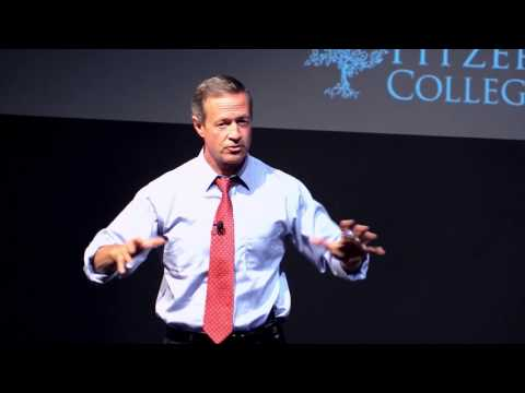 Governor Martin O'Malley Speaks at Pitzer College