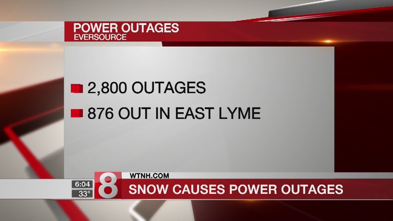 Winter storm knocks out power for thousands across CT - Dauer: 24 Sekunden