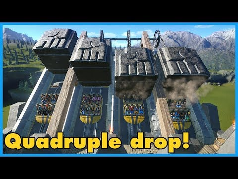 QUADRUPLE DROP! Fjorir: Dwarven Coaster | Coaster Spotlight 361 #PlanetCoaster