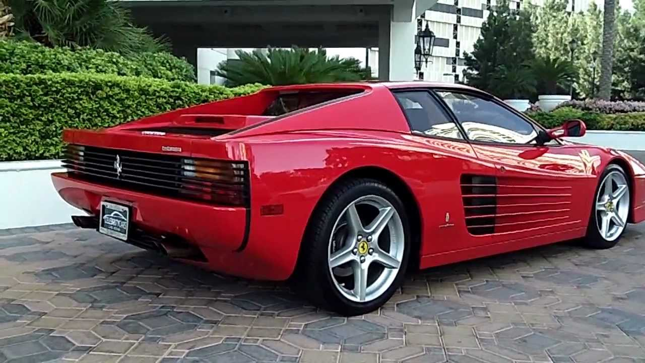 1990 ferrari testarossa at celebrity cars las vegas inside the