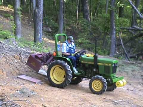 John Deere 750 Compact Utility Tractor Box Blade Youtube