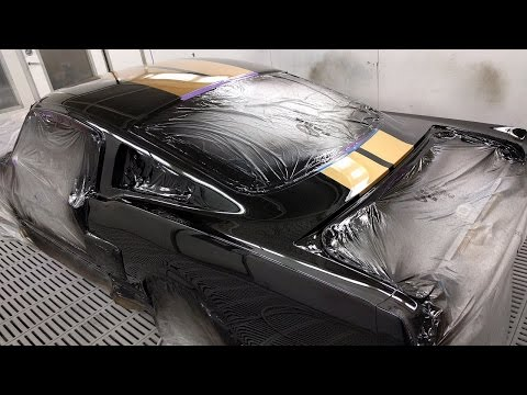 GT350 Mustang Spray Painting