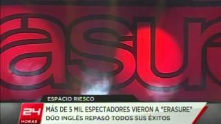 Erasure en el Canal 24 Horas (2011)