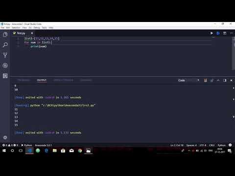 Loops in Python : For Loop