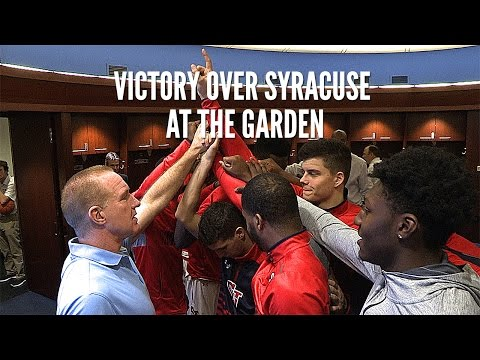 Victory Over Syracuse at The Garden: Behind-The-Scenes