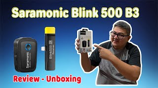 Saramonic Blink 500 B3 Wireless Microphone Product Review I Unboxing - WHATS THIS!