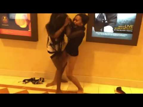 Beautiful Women Brawl At Movie Theater
