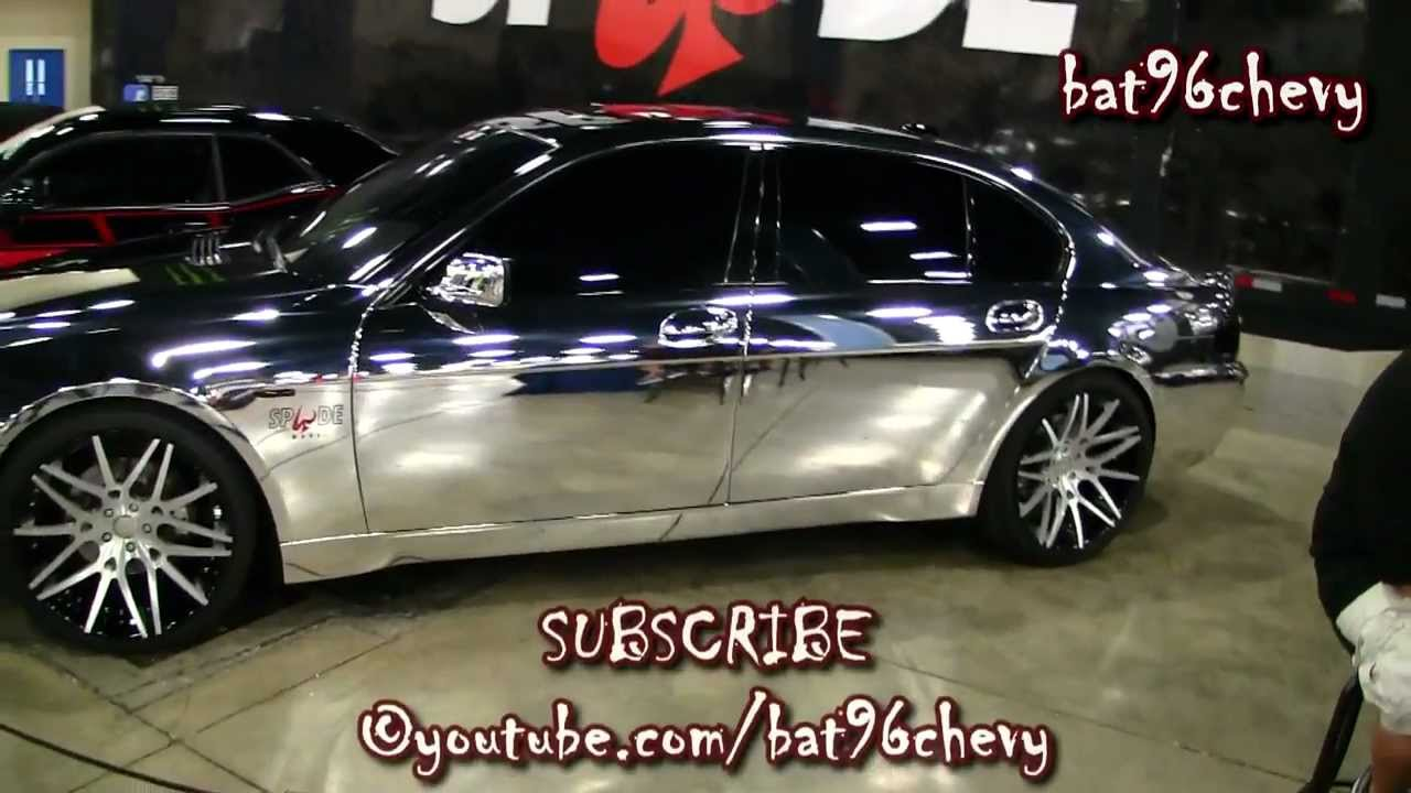 "2012 BMW 750Li >> ALL CHROME BMW 745Li on 22"" Forgiatos - 1080p HD - YouTube"