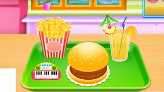 Burger And Juice Making  | Kids Kitchen Funny Videos | Cartoon Videos For Kids