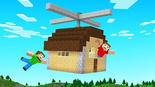 We CRAFTED Real FLYING HOUSES In MINECRAFT!
