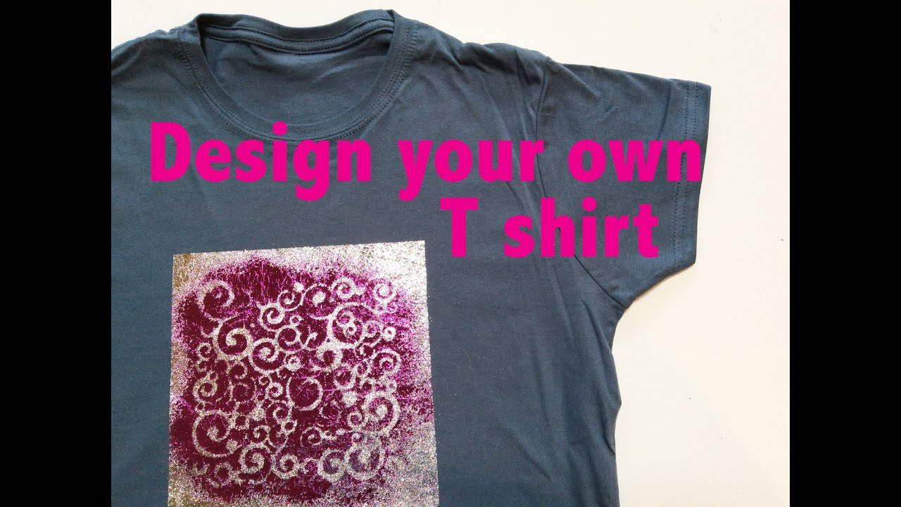 Create Your Own Shirt With Kk Glue Stencils Transfer