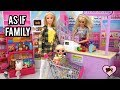 LOL Underwraps As If Family Goes Grocery Shopping - Barbie Supermarket Toy