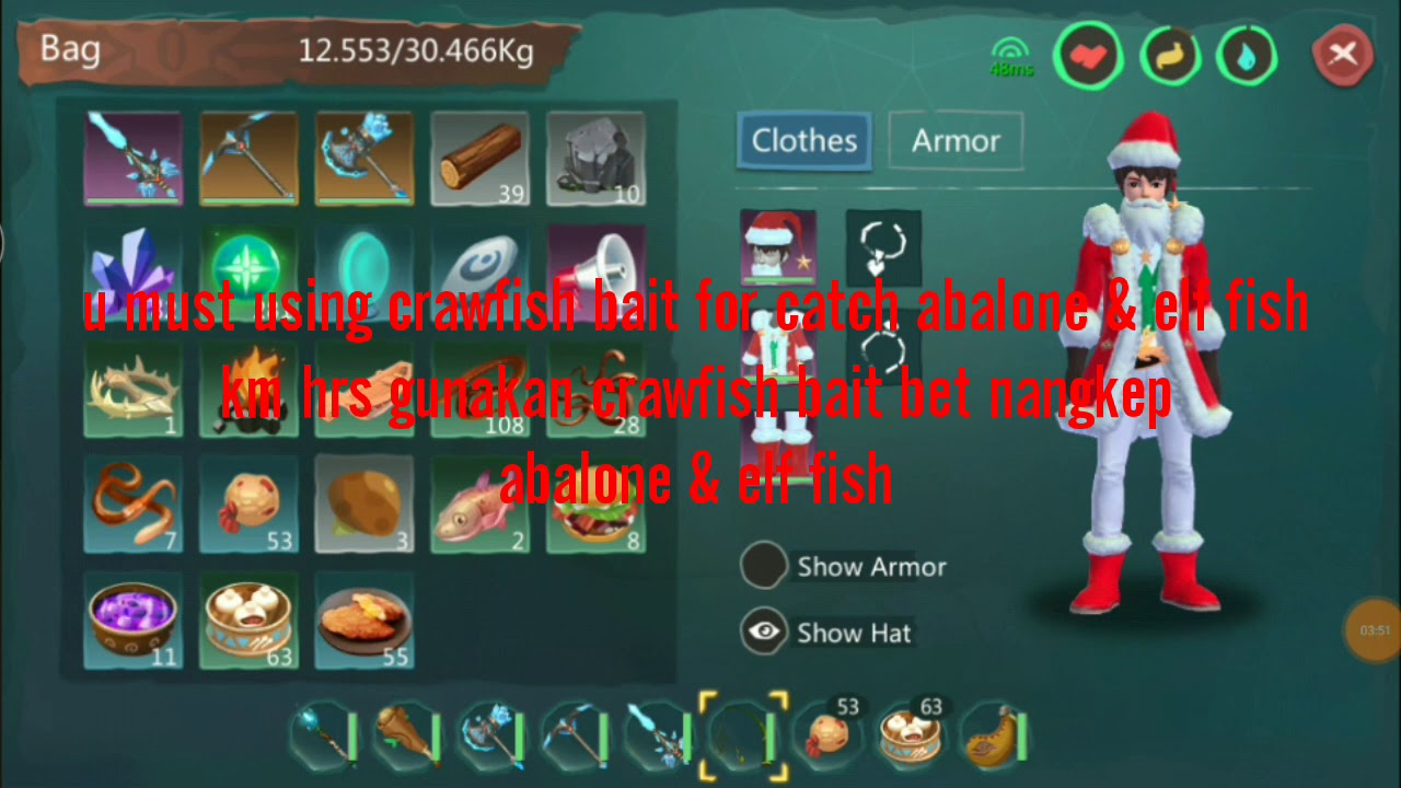 Utopia Origin How To Catch Abalone Elf Fish Using Crawfish Bait Youtube