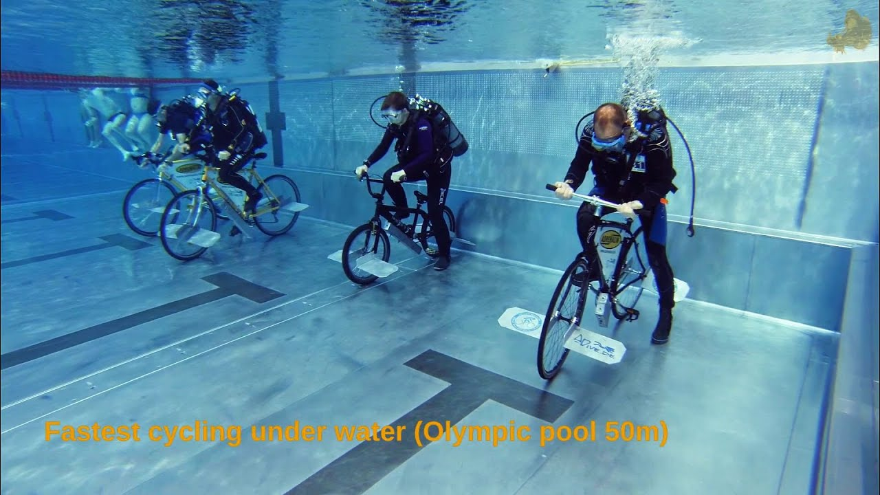 Under Water Cycling World Records 2013 Youtube