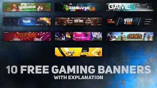 Top 10 Gaming Banner Template | Free Download