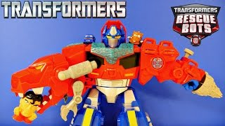Transformers Optimus Primal T-Rex Rescue Bots Toy Eating Disney Pixar Cars Superman Superhero