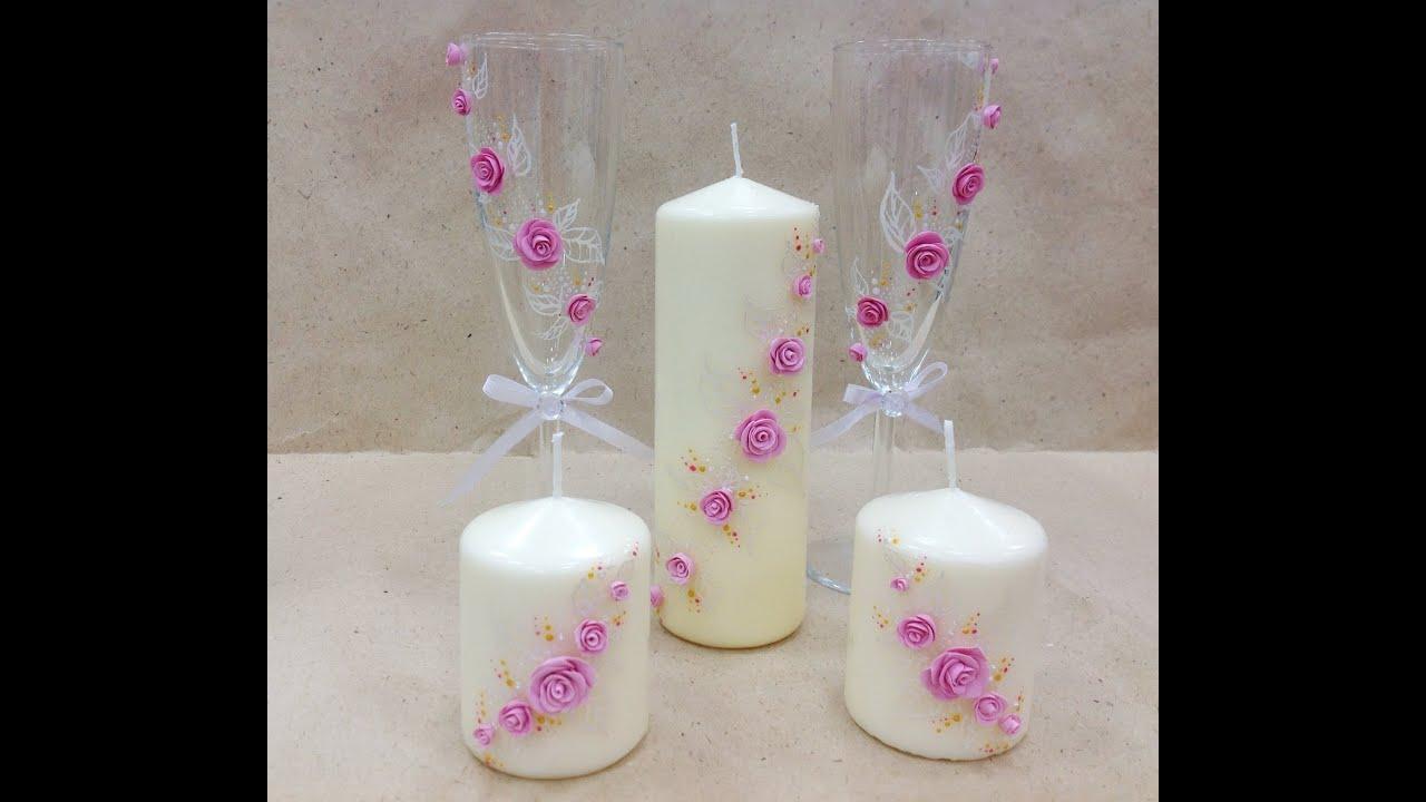 Cвадебные свечи своими руками: делаем, украшаем, идём 74
