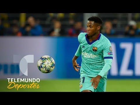 En la cara de Messi, Ansu Fati devora otro récord en Champions | Telemundo Deportes