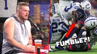 Pat McAfee Reacts To Colts Texans Fumble Call