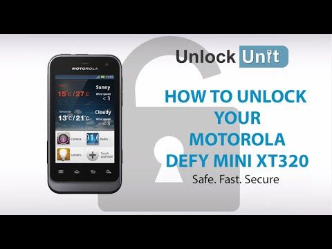 UNLOCK MOTOROLA DEFY MINI XT320 - HOW TO UNLOCK YOUR MOTOROLA DEFY MINI XT320