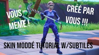 HOW TO MAKE CUSTOM SKINS IN FORTNITE WITH HXD