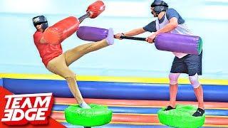 Blindfold Jousting Challenge!! Video