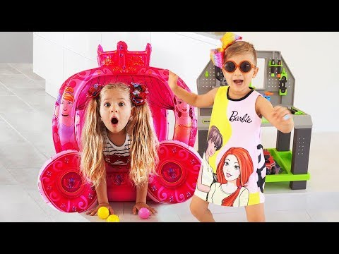 Diana Pretend Play with Girl Toys & Barbie doll
