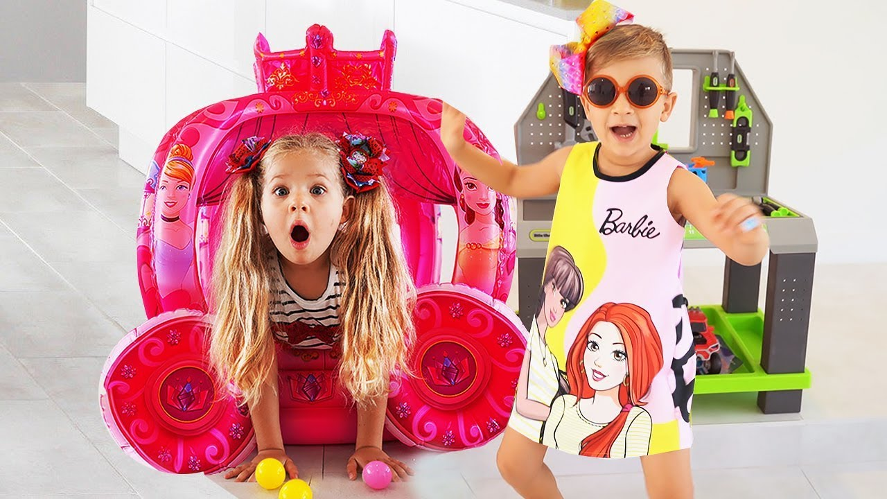 668de10d8f76a Diana Pretend Play with Girl Toys & Barbie doll - YouTube