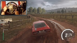 DiRT Rally 2.0 - Datsun 240Z with Steering Wheel Gameplay