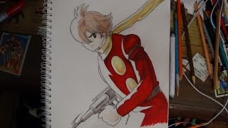 "My Pencil & Ink Drawing: Joe Shimamura: ""Cyborg 009"""