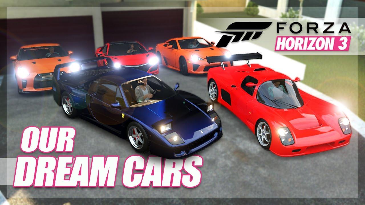 forza horizon 3 our dream cars challenge cruising random fun youtube