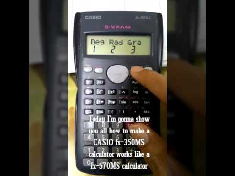 casio scientific calculator instructions