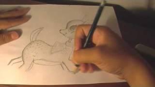 Speed Drawing - Ciervo de Fantasía