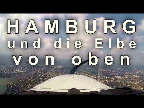 Scenic Flight over Hamburg and Elbe River | Full Flight
