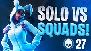 27 KILL WIN SOLO VS SQUADS! - Fortnite Battle Royale