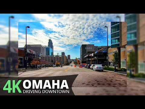 Omaha 4K60fps - Driving Downtown - Nebraska, USA