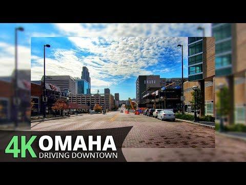Omaha 4K60fps - Driving Downtown - Nebraska, USA