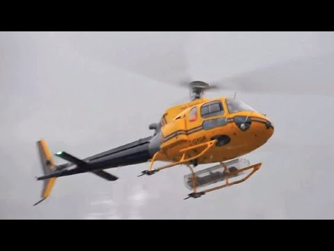 Eurocopter AS-350 Ecureuil Takeoff and Landing