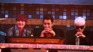 121229 [HD fancam] Hyuk, Siwon & Kangin 2ne1 at SBS Gayo