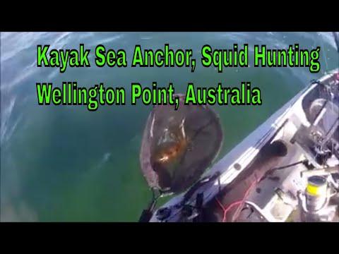 Kayak Sea Anchor, Squid Hunting, Soft Plastic's Fishing, Wellington Point Australia