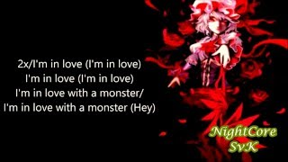 nightcore fifth harmony i m in love with a monster lyrics
